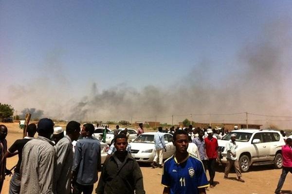مواجهات بين الاهالى والسلطات بالجريف شرق إحتجاجاً على نزع الأراضي