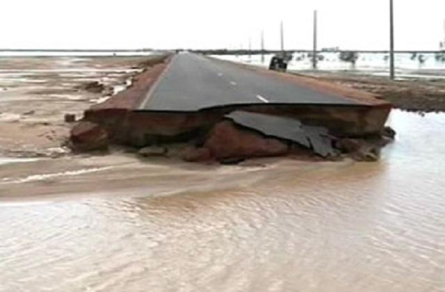 السيول تدمر 250 منزلاً بربك وتقطع طريق الجبلين وتوقف خط السكة حديد ابوحمد عطبرة بورتسودان