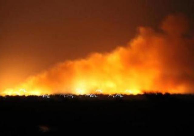 إصابة (8) فى إنفجار مخزن ذخيرة شمال الخرطوم