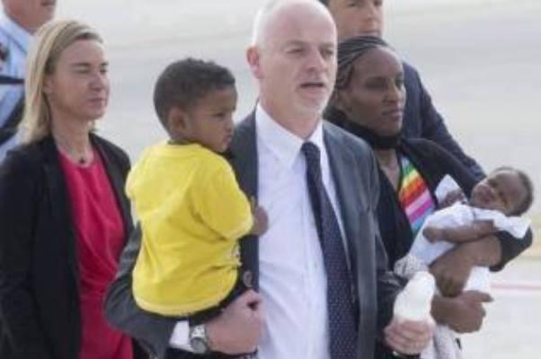 مريم يحيى تغادر  السودان الى روما على متن طائرة ايطالية