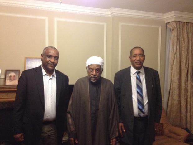 قيادة الجبهة الثورية تلتقي  الميرغني في لندن