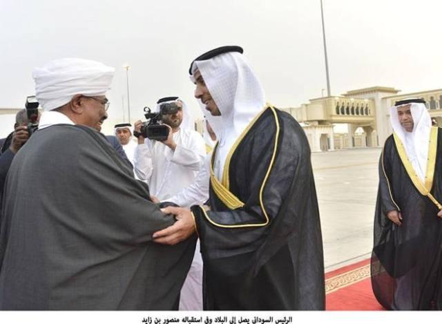 إستقبال اماراتي فاتر للبشير