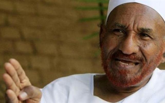 الامه يدعو السودانيين لاستقبال المهدى فى (26 يناير) القادم