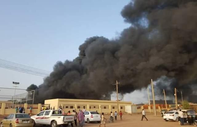 حريق لمبنى محلية الخرطوم باركويت