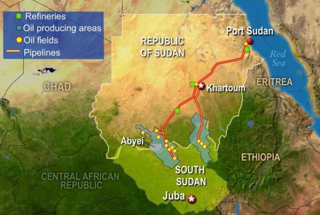جوبا تهدد باغلاق حقول النفط