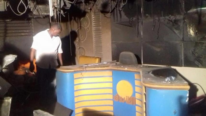 حريق استديوهات الاخبار يتسبب فى تعطيل بث نشرات لقناة (الشروق)