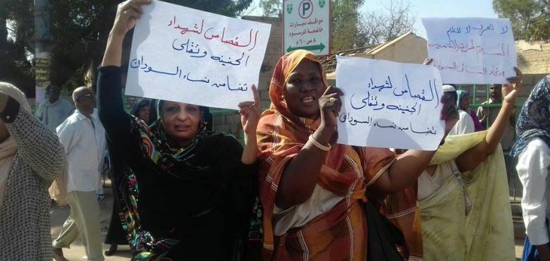 نساء السودان ينظمن وقفة إحتجاجية للمطالبة بإطلاق سراح معتقلات