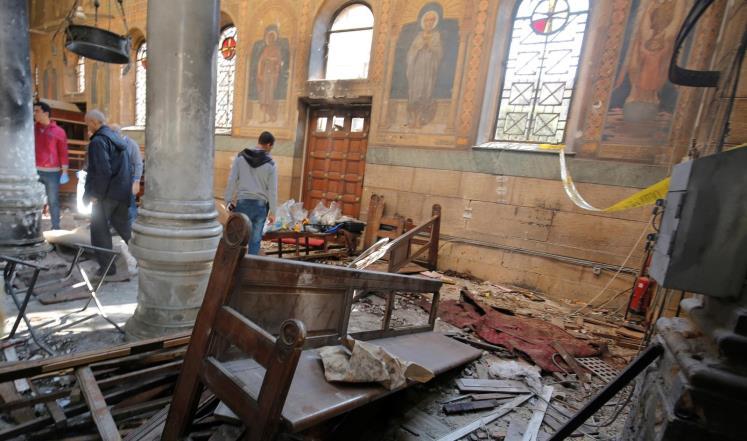 مصر تعلن الحداد وتبدأ التحقيق بانفجار الكنيسة