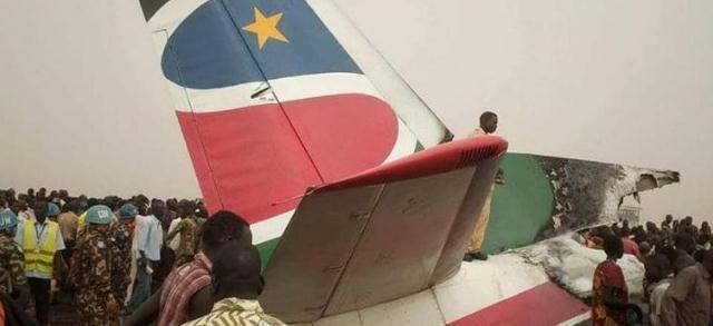 اصابة (14) شخصا فى تحطم طائرة بجنوب السودان