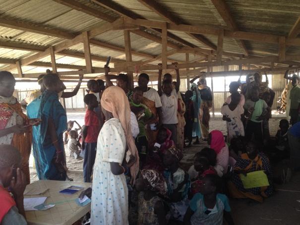 استمرار تدفق لاجئي جنوب السودان الى النيل الابيض
