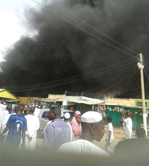 الداخلية : (14) قتيلاً وجريحاً جراء إنفجار سوق المراكيب بالابيض – شاهد صور للقذائف