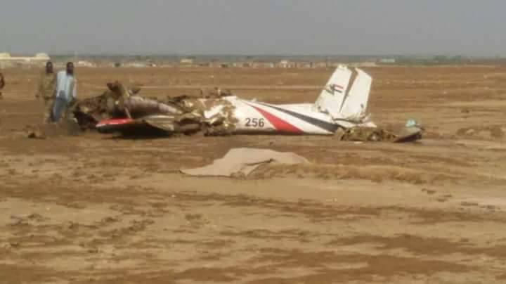 تحطم طائرة  عسكرية  ببورسودان