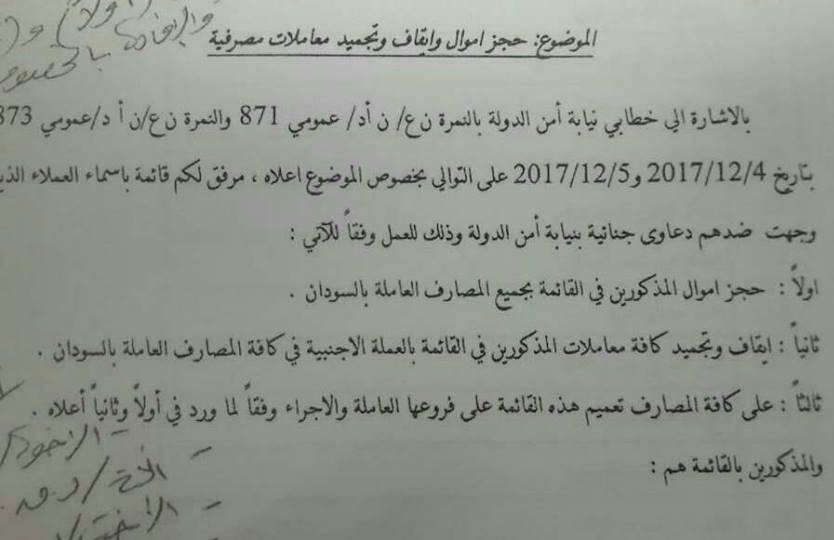 بنك السودان يجمد أرصدة 47 شخصا وشركة بسبب (الدولار)-طالع الاسماء