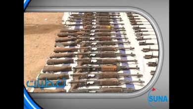 """صورة """"الدعم السريع"""" يضبط كميات ضخمة من الأسلحة الثقيلة بولاية كسلا"""