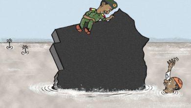 صورة كاريكاتير عمر دفع الله