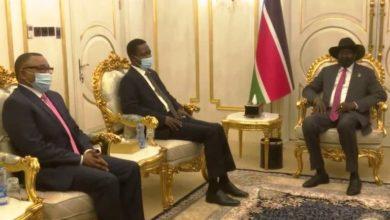 صورة وفد الحكومة يبحث مع سلفا تطورات الخلافات مع إثيوبيا وتنفيذ اتفاق السلام