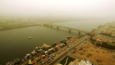 صورة السودان: استمرار التأثر بالكتلة الهوائية الباردة والرياح الجافة
