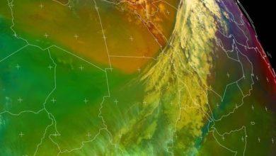 صورة كتل ثلجية جنوبي مصر وشمال السودان