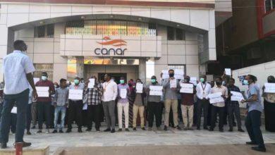 صورة وقفة احتجاجية للعاملين بـ«كنار»