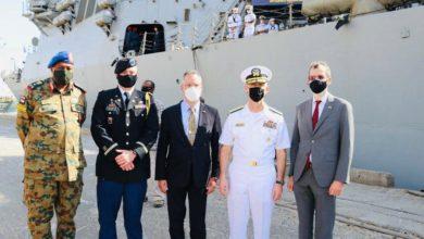 صورة ميناء بورتسودان يستقبل السفينة الحربية الأمريكية «ونستون تشرشل»