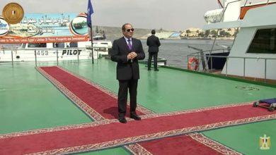 صورة السيسي: مصر لن تتخلى عن قطرة من مياه النيل