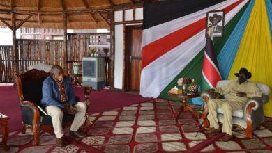 صورة عبد الواحد نور يحث سلفاكير على تيسير الحوار الوطني بين الأحزاب السودانية