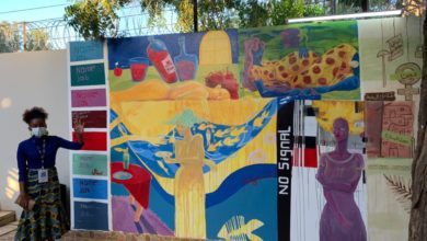 صورة حوائط المركز الفرنسي بالسودان تتحول لجداريات نسوية احتفالا بيوم المرأة