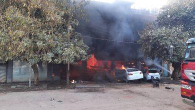 صورة مقتل مواطن في حريق محلات تجارية بالخرطوم بحري