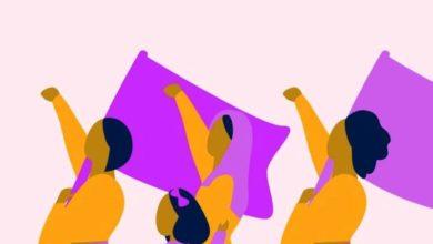 صورة موكب نسوي سوداني للمطالبة بالمساواة النوعية والحماية
